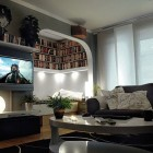 Awesome Home Entertainment System Setup with Movie Rack Collection