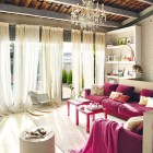 Beautiful Living Room with Sweet Color Elements
