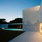 Beautiful White House wiith Glass Wall Ideas