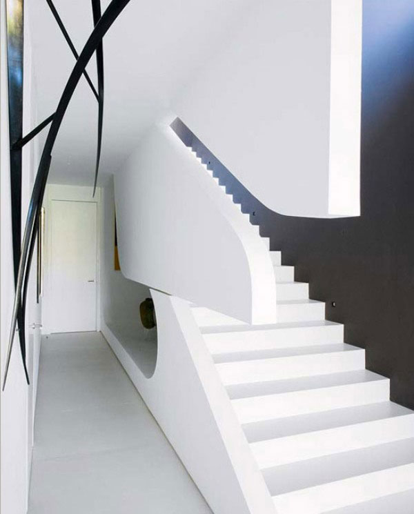 Black and White Modern Stairs Design Ideas