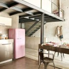 Charming Pink Refrigerator Kitchen Ideas