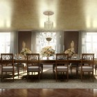 Classic Luxury Dining Room with Wooden Table