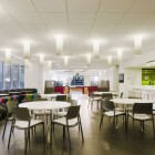 Clean and Cool Office Cafe Design
