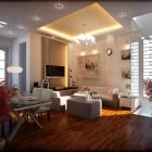 Cool Living Room Lighting with Luxury Chandelier