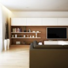 Cool Living Room with Long TV Wall Unit Ideas