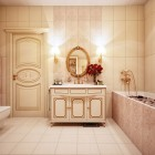 Cool Sink Unit in a Gold Toned Bathroom