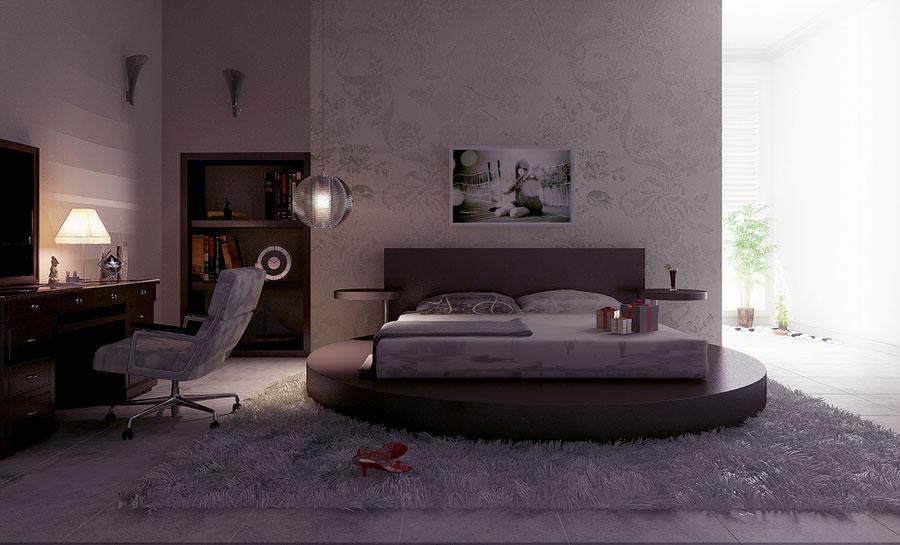 Diva Bedroom Design with Luxury White Rugs