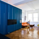 Ergonomic Furniture Blue Color Ideas in Small Apartment