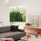Fresh Living Room with Garden View