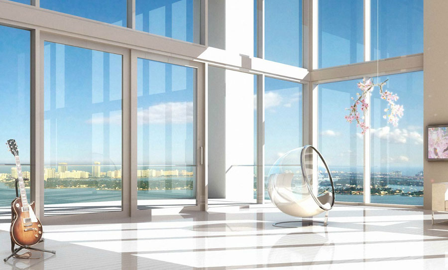Glass Room with Bubble Chair Loft