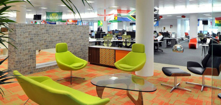 Green Chairs in Office Decor Inspirations