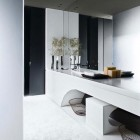 Large Mirror Design in Bathroom with Modern Sink