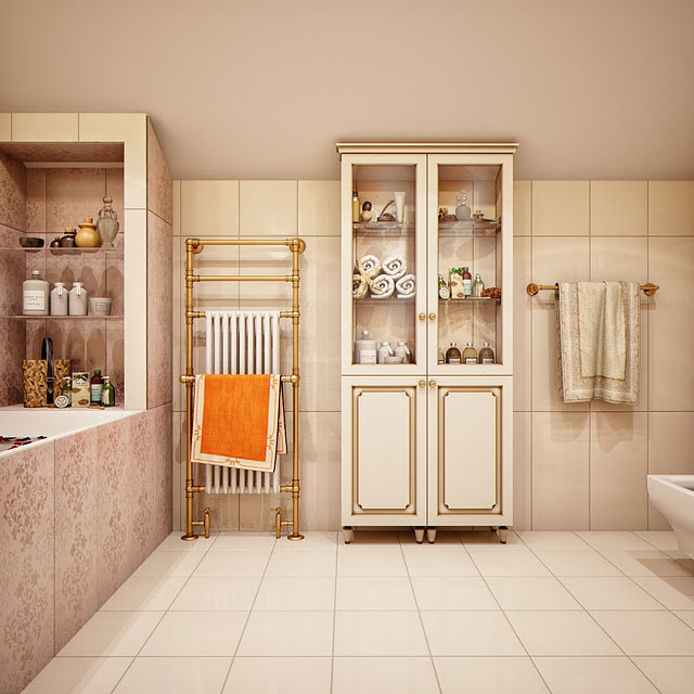 Luxurious Storage Unit Bathroom Design