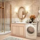Luxury Bathroom with Gold Element