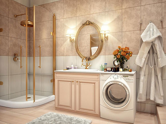 Luxury Bathroom with Gold Element