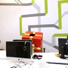 Media Spot Wall Line Graphic Design Office