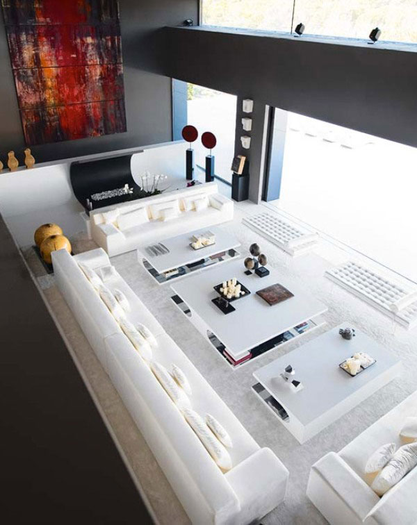 Minimalist House White Large Livingrom Ideas