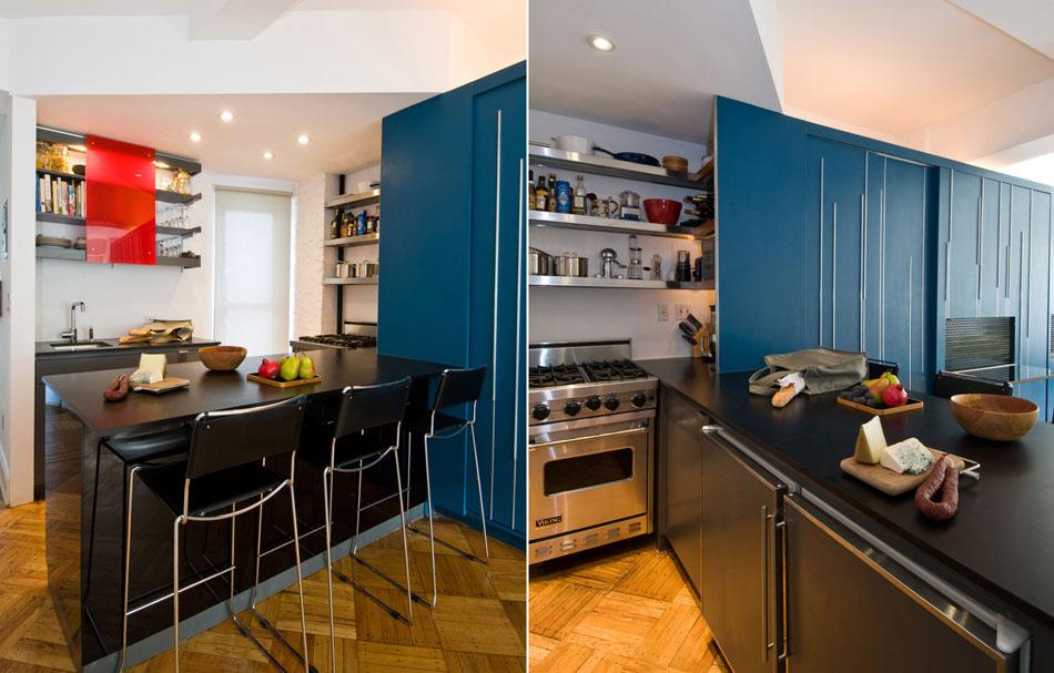 Modern Black Counter Top Apartment Ideas