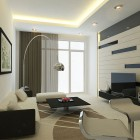 Modern Living Room Wall with Striped Decor
