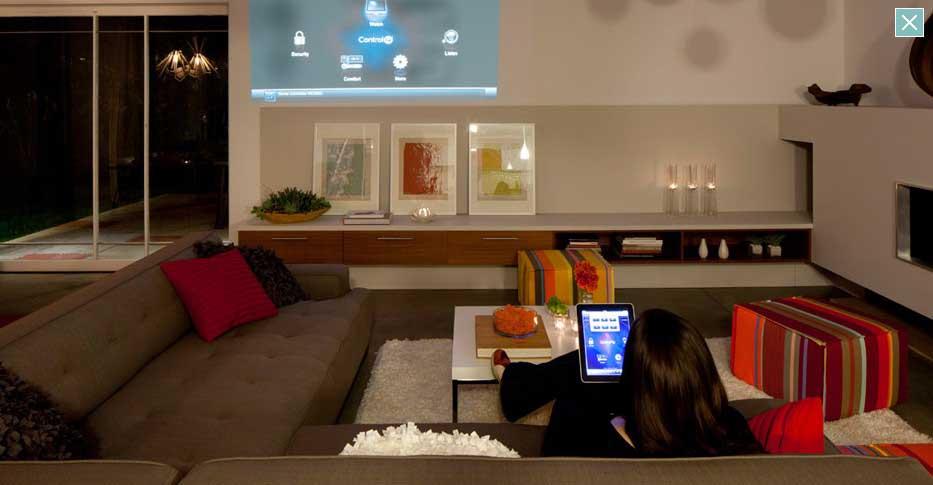 Modern Living Room with Futuristic Furniture