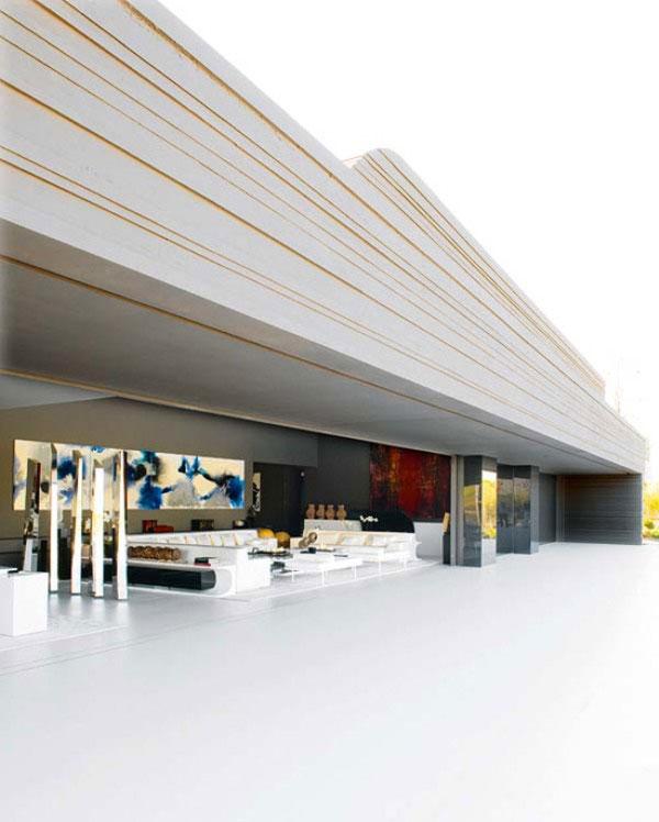 Modern Wall Ceiling with Strip Decor Ideas