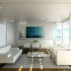 Modern White Living with Lookout