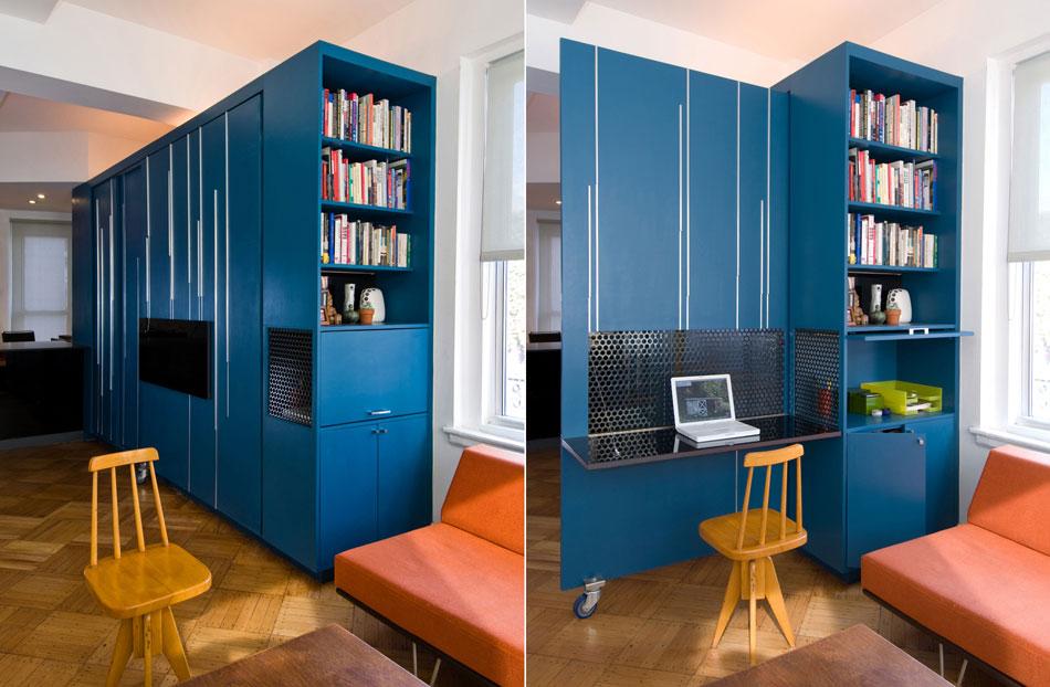 Mulitifungsional Rack Design Ideasn with iMac Desk