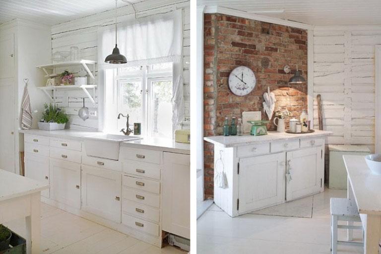 Natural Brickwall Kitchen Decor Ideas