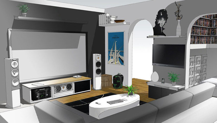 A Modern Home Entertainment Setup 2012 Interior Design Living Room Design