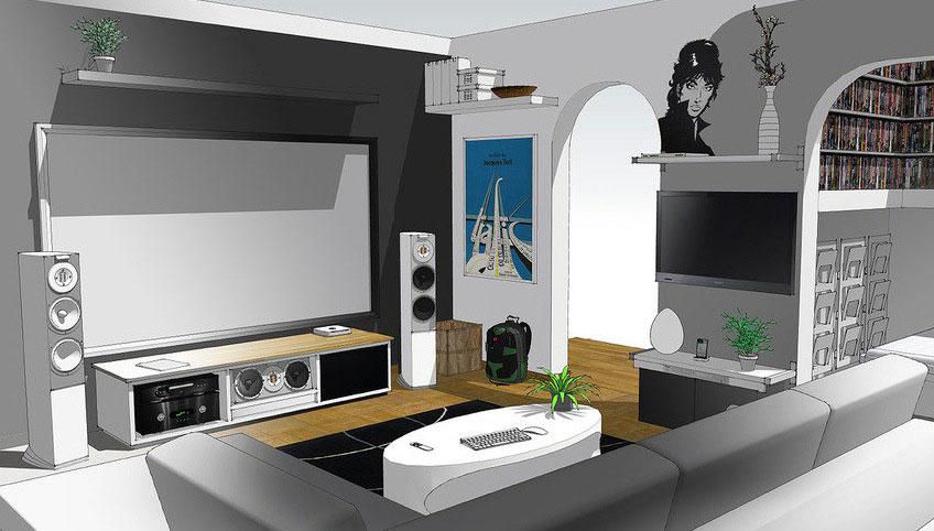 New Design Home Entertainment System Sketch up Design 2012