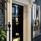Number 10 Downing Street Replica with Black Brickwall Decor