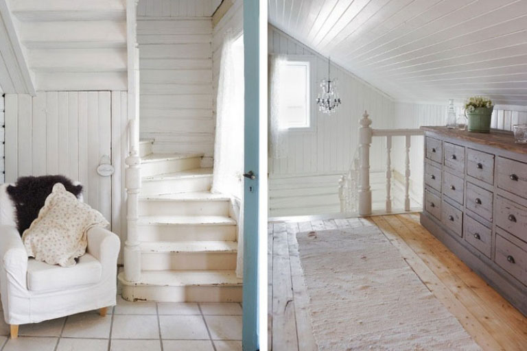 Old Style Second Floor with Slooping Celing Ideas