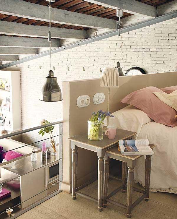Open Modern Loft Bedroom Living Room View