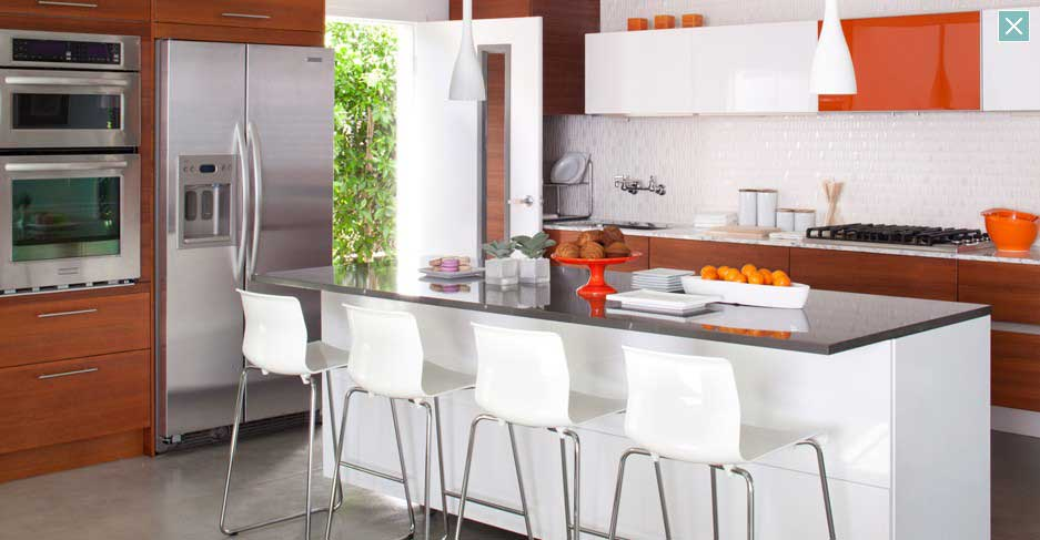 Orange and White Kitchen Ideas - Interior Design Ideas