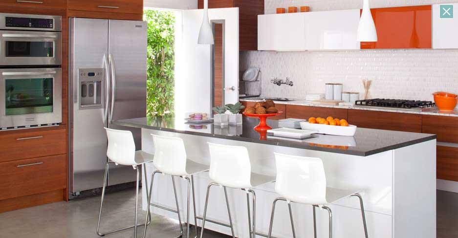 Orange and White Kitchen Ideas