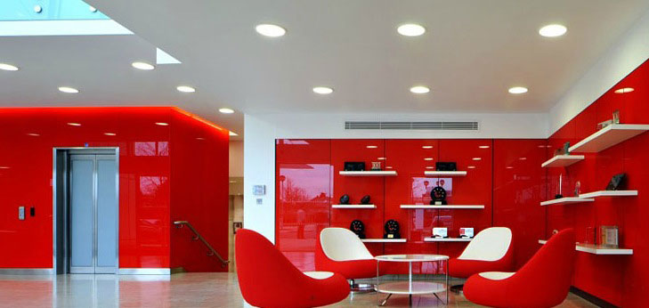 Red Plastic Wall Office Design Ideas