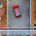 UK Flag in Mini Cooper