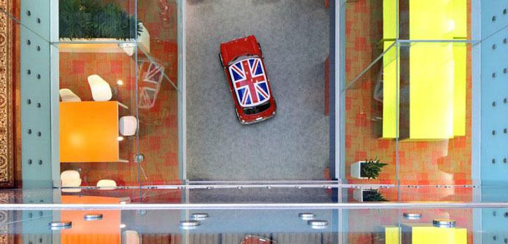 UK Flag in Mini Cooper