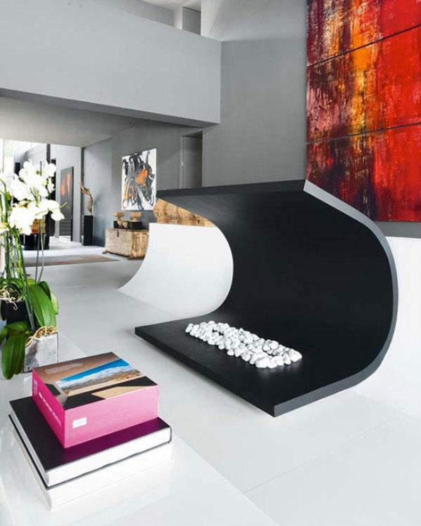 Unique Black Color Living Room Decor Interior Design Ideas