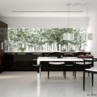 White and Black Dining Room with Winter Style Theme