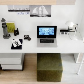 2012 Cool White Study Desk Design