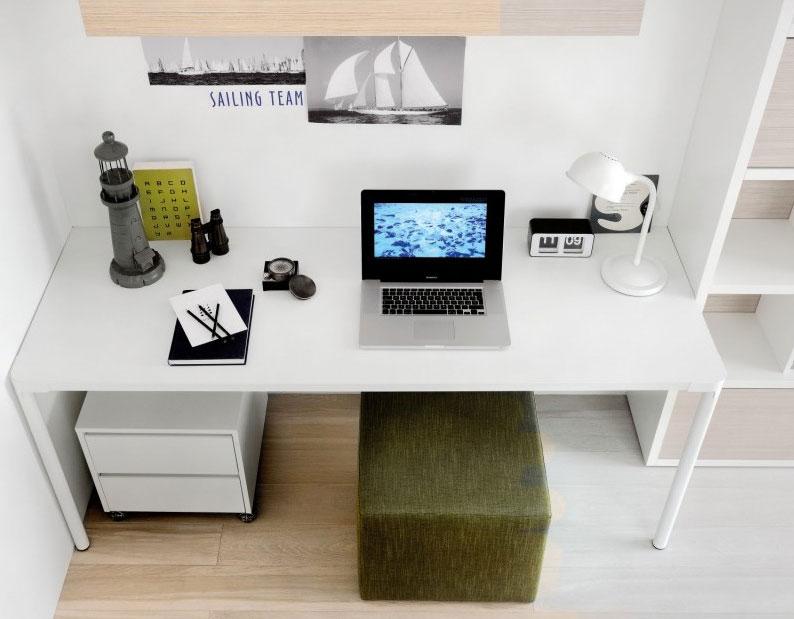 2012 Cool White Study Desk Design