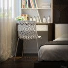 A White Crochet Chair Design in Bedroom