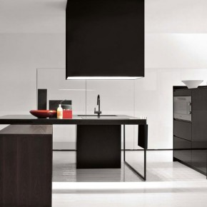 All Black Furniture Simple Kitchen Design