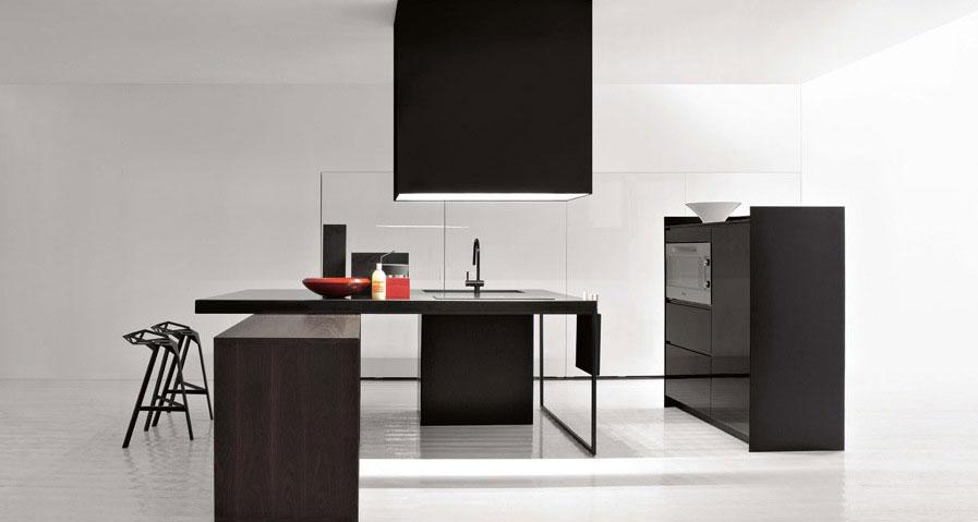 All Black Furniture Simple Kitchen Design
