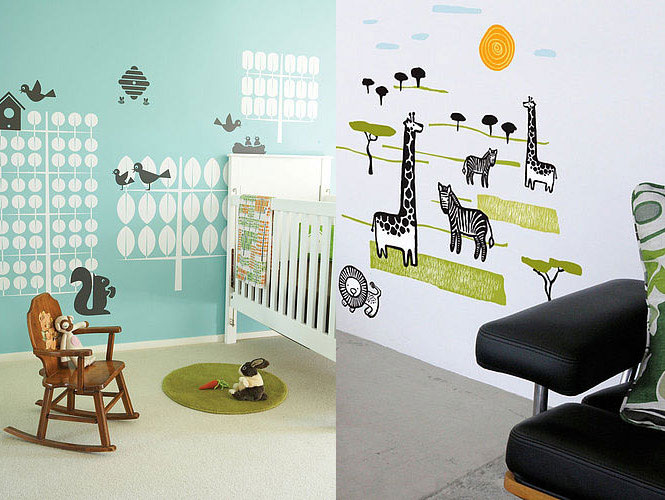 Animal Wall Stickers for Kids Room