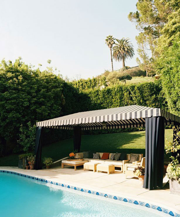 Awesoeme Pool Cream Black Cabana Ideas