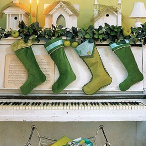 Awesome Green Christmas Sock Decorations