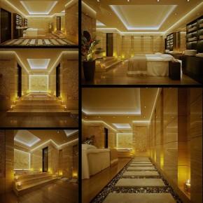 Beautiful Ceiling Lighting Spa Indoor Zen Garden