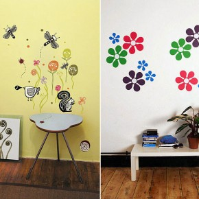 Beautiful Flower Nature Wall Stickers